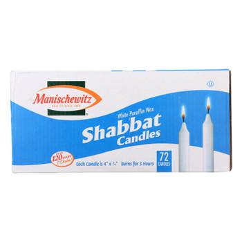 Manischewitz Shabbat Candles  - Case of 8 - 72 CT