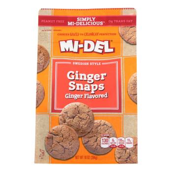 Mi-Del's Original Flavored Ginger Snaps Cookies  - Case of 8 - 10 OZ