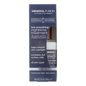 Mineral Fusion Overnight Renewal Line-Smoothing Nighttime Treatment  - 1 Each - 1 OZ
