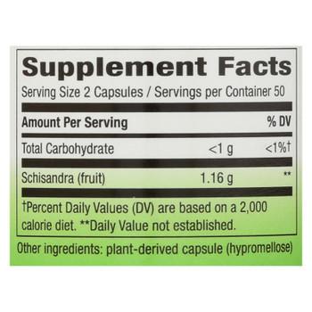Nature's Way Schisandra Fruit Dietary Supplement  - 1 Each - 100 CAP