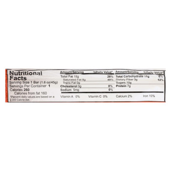 Nelly's Organics Peanut Butter & Coconut Bar  - Case of 9 - 1.6 OZ