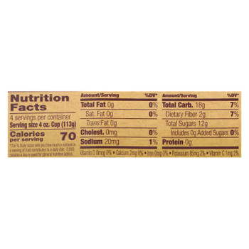 North Coast Organic Applesauce  - Case of 12 - 4/4 OZ