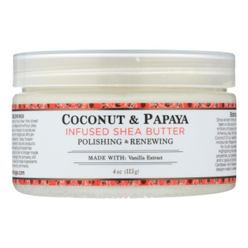 Nubian Heritage 100% Organic Shea Butter Infused With Coconut & Papaya  - 1 Each - 4 OZ