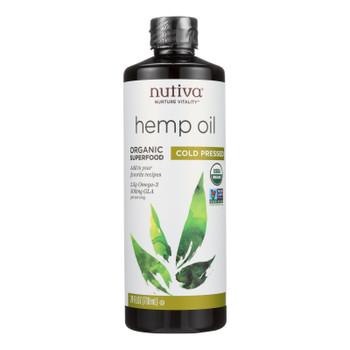 Nutiva Hemp Oil, Cold-Pressed  - 1 Each - 24 FZ
