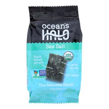 Ocean's Halo Seaweed, Sea Salt Snack  - Case of 12 - .14 OZ