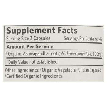 Organic India Wellness Supplements, Ashwagandha  - 1 Each - 90 VCAP