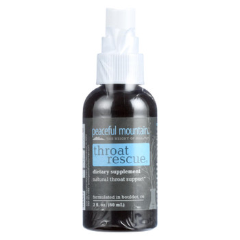 Peaceful Mountain Throat Rescue Dietary Supplement  - 1 Each - 2 OZ