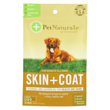 Pet Naturals Of Vermont Skin And Coat Chews  - 1 Each - 30 CT