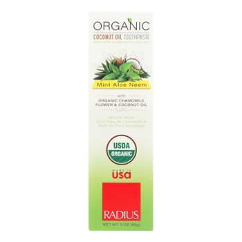 Radius Whitening Mint Aloe Neem Toothpaste  - 1 Each - 3 OZ