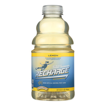 Rw Knudsen Pet Recharge Lemon  - Case of 6 - 32 FZ
