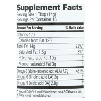 Spectrum Essentials Organic Flax Oil Dietary Supplement  - 1 Each - 8 FZ