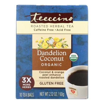 Teeccino Dandelion Coconut Organic Chicory Herbal Tea  - 1 Each - 10 BAG