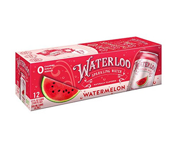 Waterloo's Watermelon Sparkling Water  - Case of 2 - 12/12 FZ