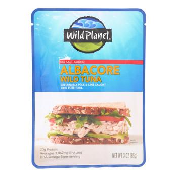 Wild Planet Wild Albacore Tuna With No Salt  - Case of 24 - 3 OZ