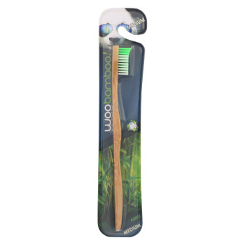 Woobamboo! Adult Medium Toothbrushes  - Case of 6 - CT
