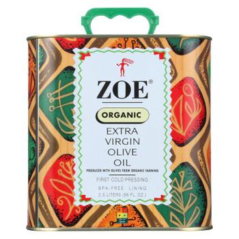 Zoe Organic Extra Virgin Olive Oil - Case of 4 - 88 FZ