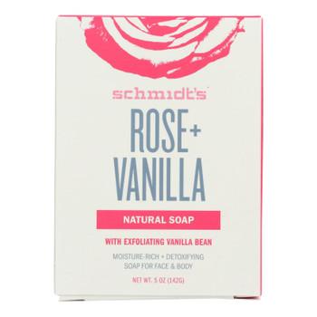 Schmidts - Bar Soap Rose & Vanilla - 1 Each -5 OZ