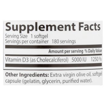 Doctor's Best - Vitamin D3 5000iu - 1 Each-180 SGEL