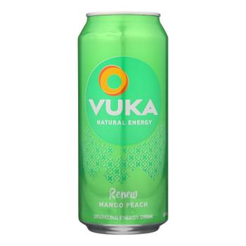 Vuka Renew Mango Peach Energy Drink  - Case of 12 - 16 FZ