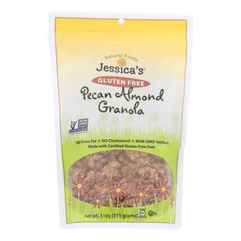 Jessica's Natural Foods Gluten Free Pecan Almond Granola  - Case of 12 - 11 OZ