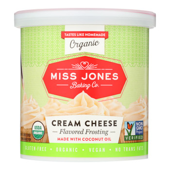 Miss Jones Baking Co Organic Cream Cheese - Case of 6 - 11.29 OZ