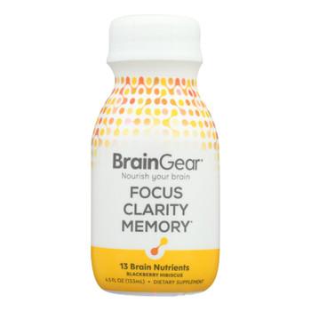 Braingear - Brain Ntrn Drink Blkbyhibs - Case of 6-4.5 FZ