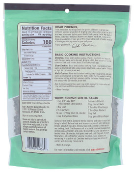 Bob's Red Mill - Beans Pet Fr Green Lentil - Case of 4-24 OZ
