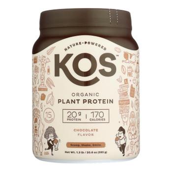 Kos - Protein Powder  Chocolate - 1 Each -19.6 OZ