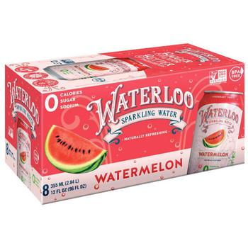 Waterloo - Sparkling Water Watermelon - Case of 3 - 8/12 FZ