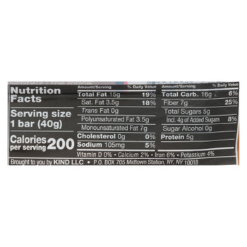 Kind - Bar Salted Caramel Dark Chocolate - Case of 12 - 1.4 OZ