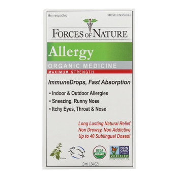 Forces Of Nature - Allergy Drp Max Immun - 1 Each - 10 ML