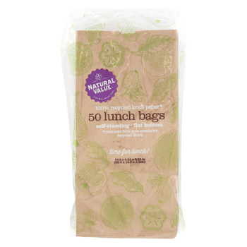 Natural Value - Lunch Bags Recyc - Case of 24 - 50 CT
