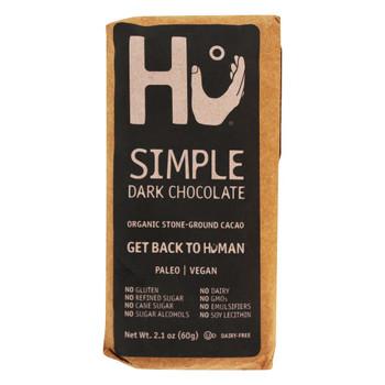 Hu - Dark Chocolate Br Organic Simple - Case of 12-2.1 OZ