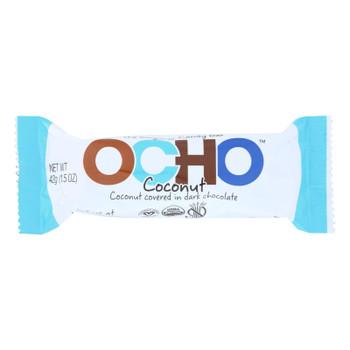 Ocho Candy - Candy Bar Coconut - Case of 12-1.5 OZ