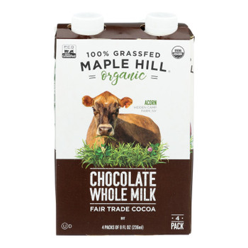 Maple Hill Creamery - Milk Shlfstbl Whole Chocolate - Case of 4-4/8 FZ