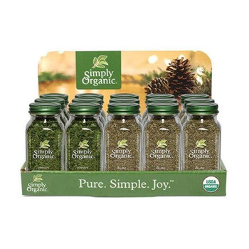 Simply Organic - Ctr Dsp Spice Holiday Og2 - CS of 1-15 CT