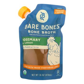 Bare Bones Rosemary & Lemon Bone Broth  - Case of 6 - 16 FZ