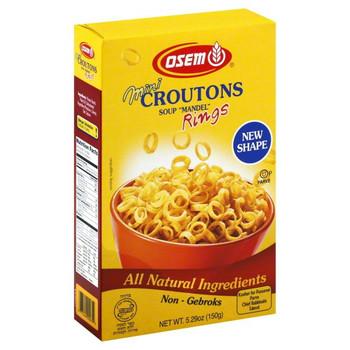 Osem - Croutons Mini Soup Mandel - Case of 12 - 5.29 OZ