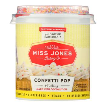 Miss Jones Baking Co. Confetti Pop Frosting  - Case of 6 - 11.98 OZ