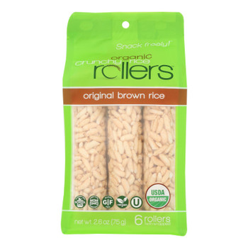 Crunchy Rollers - Roll Brown Rice - Case of 8 - 2.6 OZ