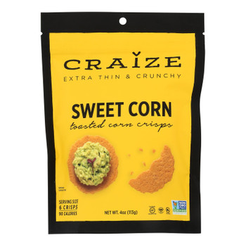 Craize - Corn Crisps Sweet Toasted - Case of 6 - 4 OZ