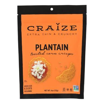 Craize - Corn Crisps Plantain Toasted - Case of 6 - 4 OZ