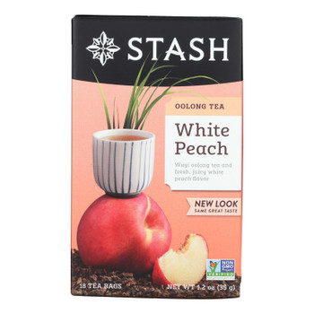 Stash Tea - Tea Oolong White Peach - Case of 6 - 18 BAG