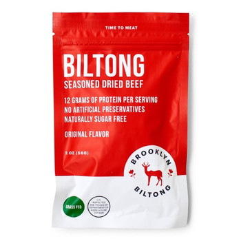 Brooklyn Biltong - Jerky Beef Original - Case of 8 - 2 OZ