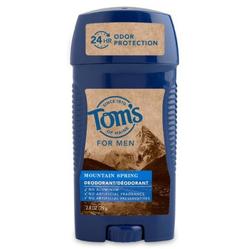 Tom's Of Maine - Deodorant Stick Mens Mountain Spring - Case of 6-2.8 OZ