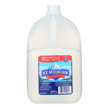 Ice Mountain 100% Natural Spring Water  - Case of 6 - 1 GAL