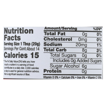 Nature's Hollow Sugar Free Strawberry Preserves  - Case of 6 - 10 OZ
