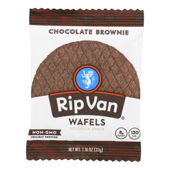 Rip Van Wafels - Wafel Chocolate Brownie - CS of 12-1.16 OZ