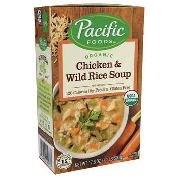 Pacific Natural Foods - Soup Chickn Wild Rice - Case of 12-17 OZ
