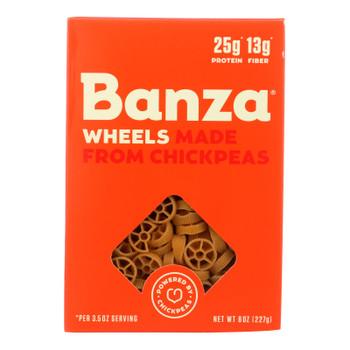 Banza Wheels Chickpea Pasta  - Case of 6 - 8 OZ